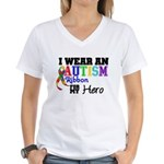 Autism Ribbon Hero Women's V-Neck T-Shirt
