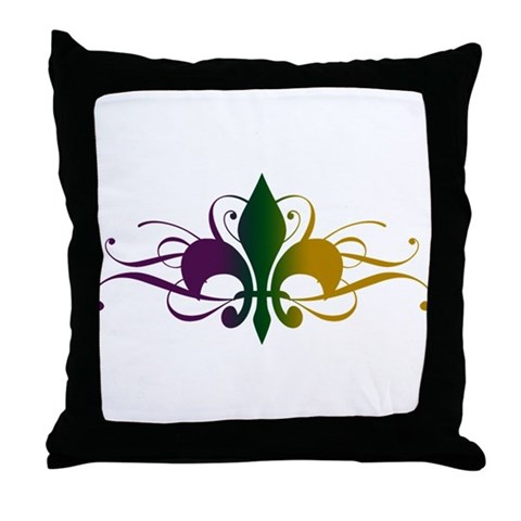 Show your love for New Orleans and Mardi Gras with this swirly, tattoo style