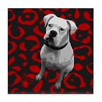DOG POP ART Tile Coaster