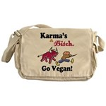 Vegan Karma Messenger Bag