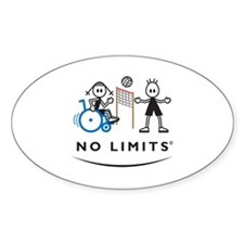 Disabled Volleyball Girl Decal