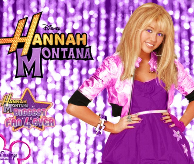 Hannah Montana Wallpaper Entitled Hannah Montana Season  Purple Background Wallpaper As A Part Of