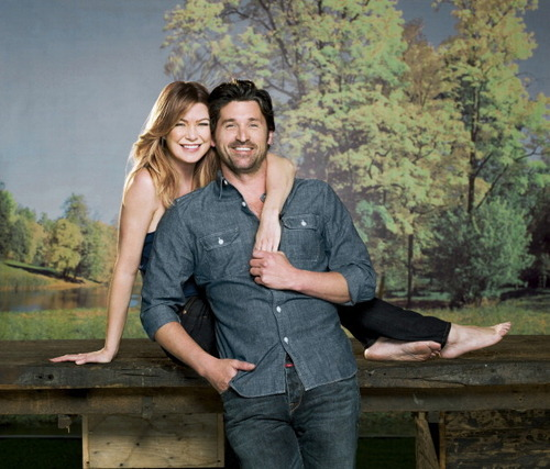 Grey's Anatomy Bilder Ellen and Patrick's TV Guide Photoshoot