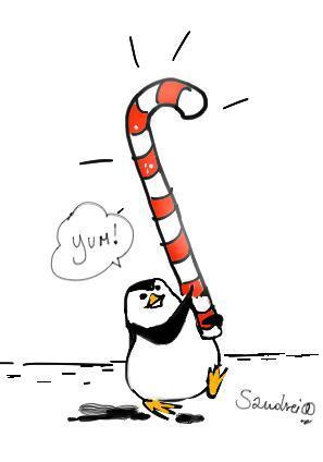 Christmas Sugar Cane - Penguins of Madagascar 297x424
