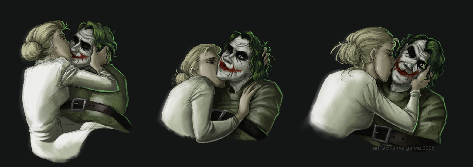 Mad Kiss - the-joker-and-harley-quinn fan art