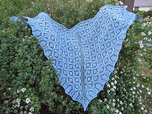 Knitting Lifeline After The Fact : Dover castle shawl knit one two
