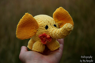 Cute knitted elephant toy