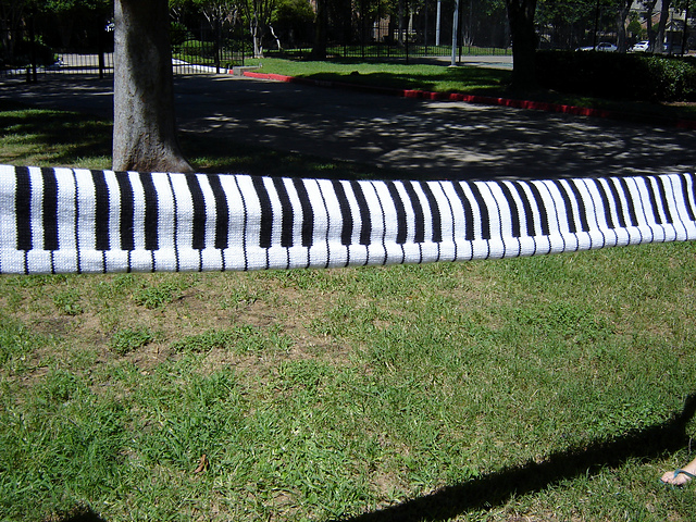 Knit Piano Scarf