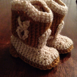 Free Crochet Baby Booties for Boys