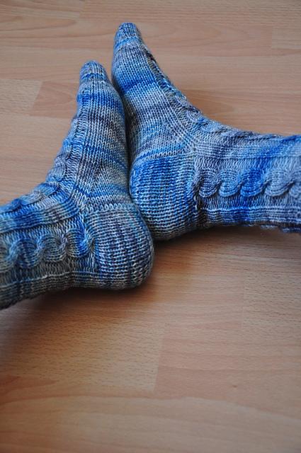 Zopfsocken Zora Zauberwiese 6-fach Sockenwolle jeanstauglich