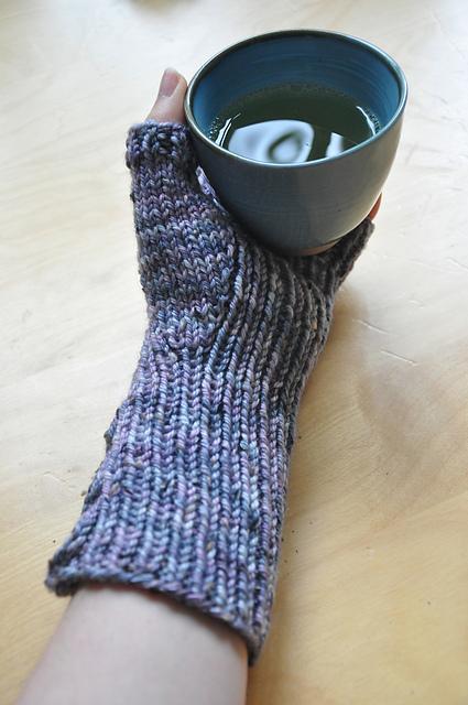 zauberwiese handstulpen quick & easy wie von zauberhand donegal tweed