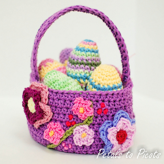 Easter egg basket free crochet patern