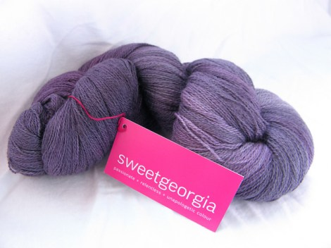 SweetGeorgia Silk Lamb Lace in Blackberry (photo from destasher)