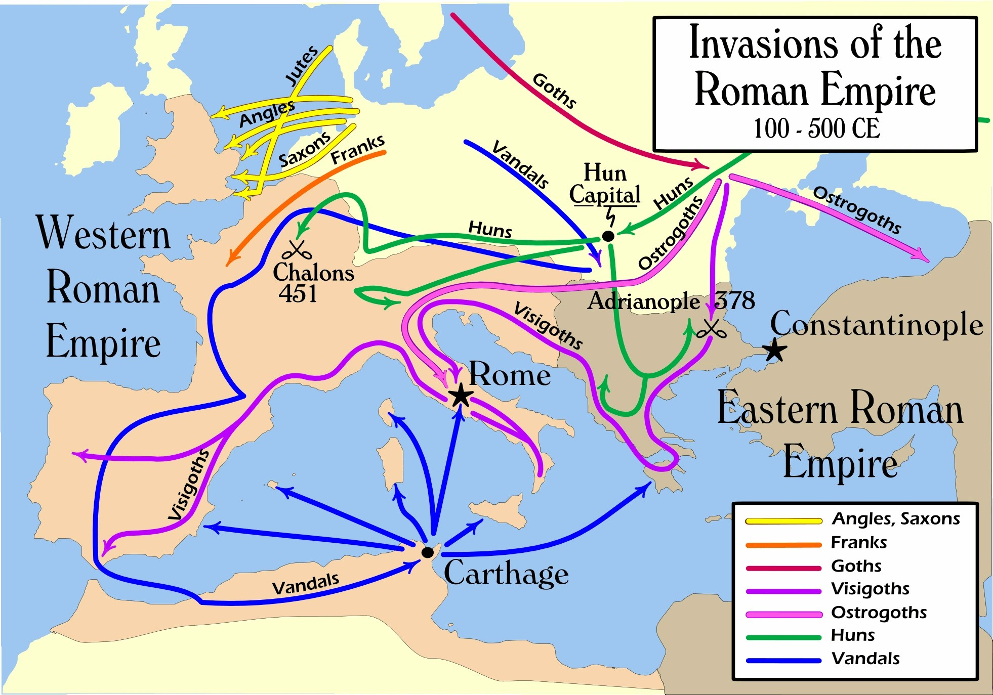 After romans were forced back, other tribes took their place