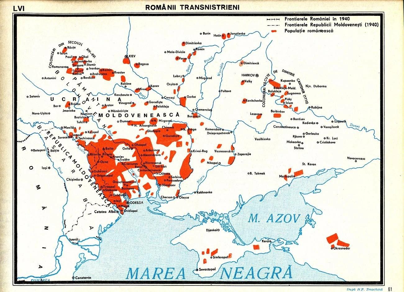 Romanii Din Transnistria Harta Etnica Geograficus
