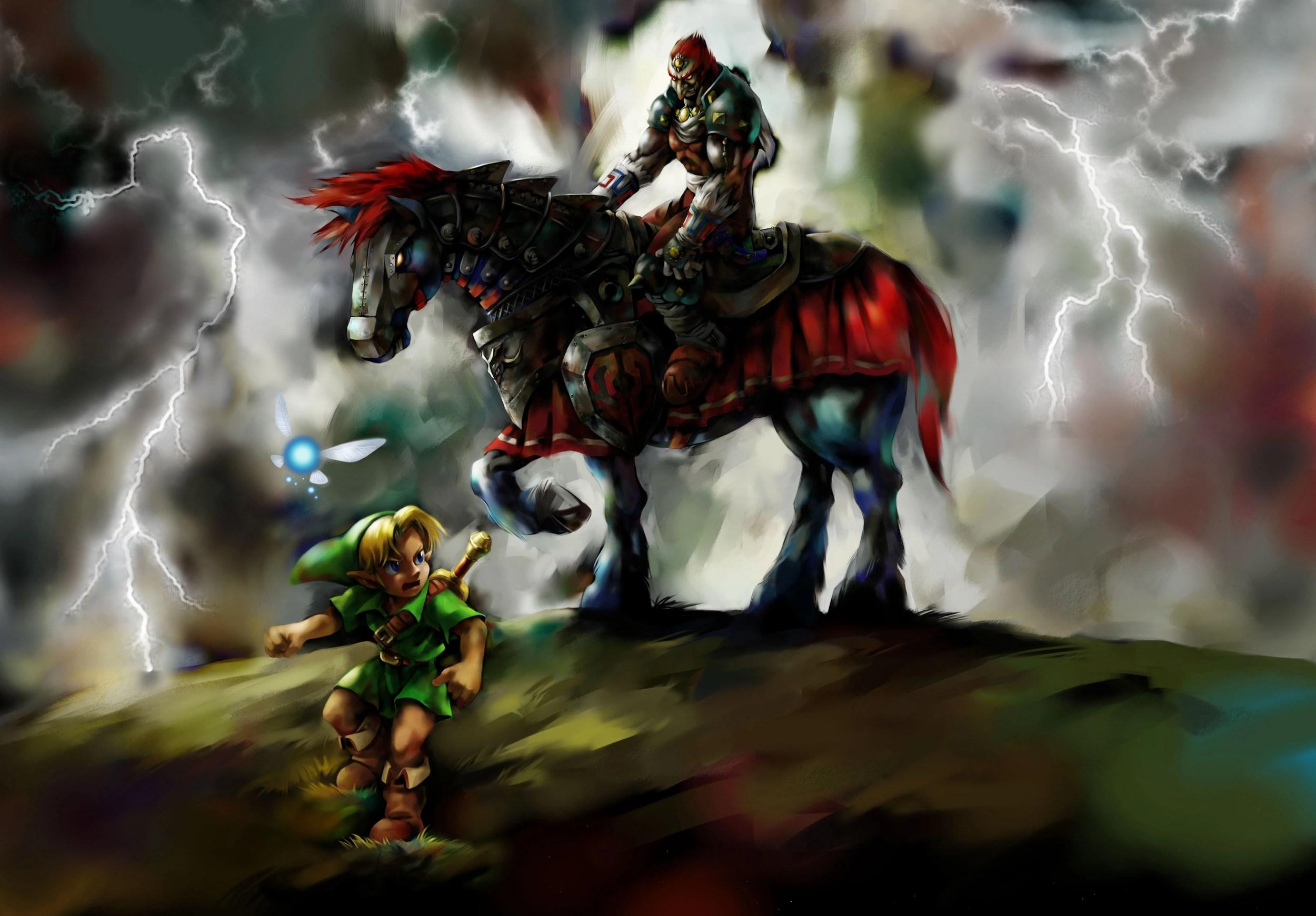 Ganondorf e Link da Ocarina of Time