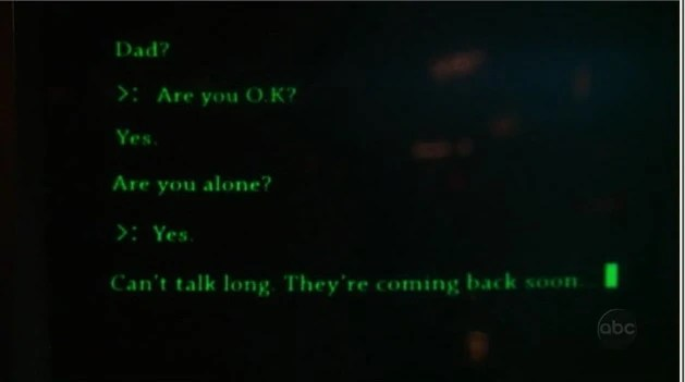 Michael sending a message