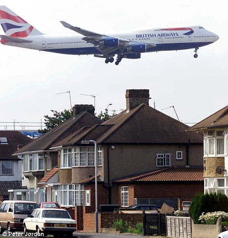 Planes flying over London, above, could be downed by the easily-built device