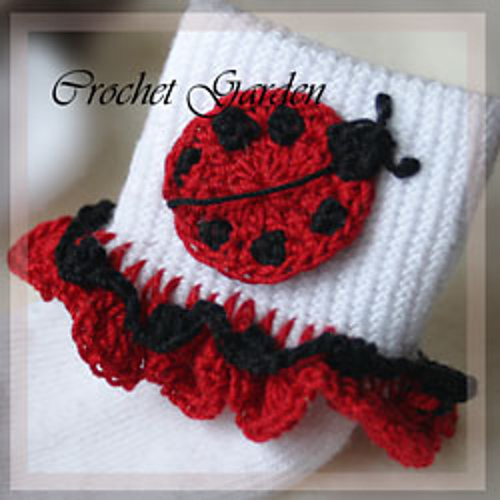 How seriously cute are these sock trims?!  Another project that my sister would LOVE!  She lurves ladybugs!
