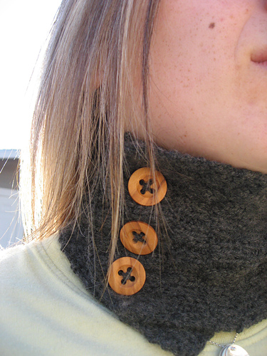 Cashmere cuff - another take on a neck warmer - very nice!