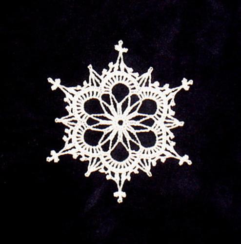 Crochet snowflake, just lovely.
