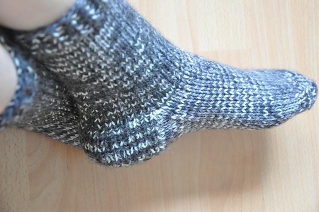 restesocken aus 6-fach Sockenwolle doppelter Faden