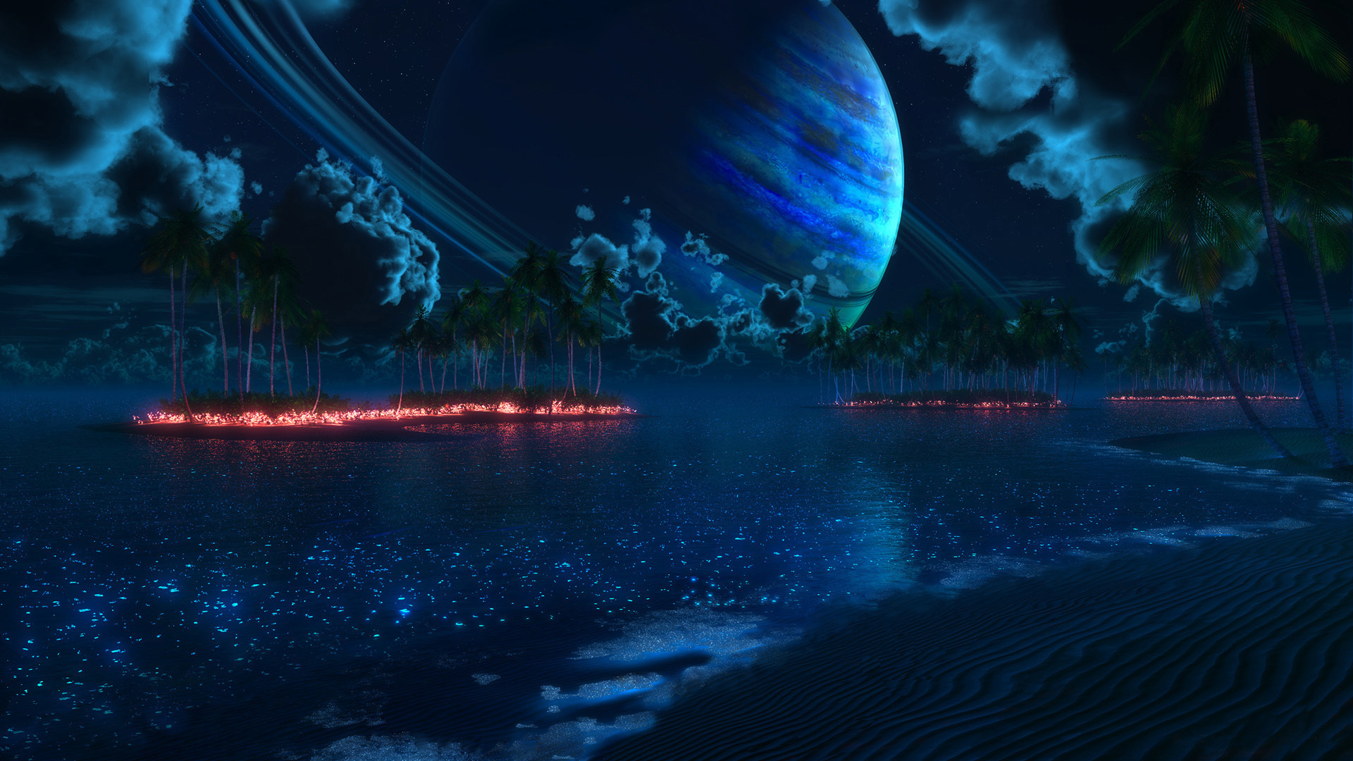 Planet Rise HD Wallpaper Background Image 1920x1080