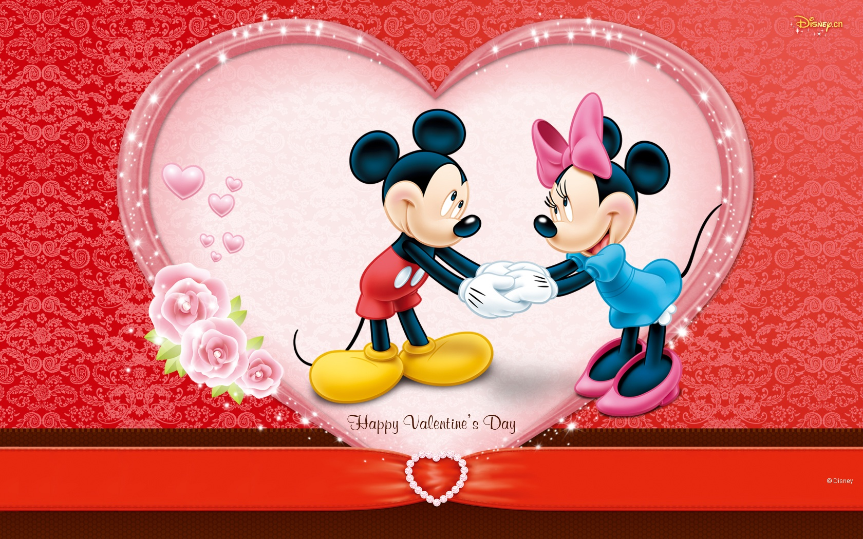 Mickey And Minnies Valentines Day Wallpaper And