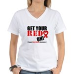 Heart Disease Women's V-Neck T-Shirt