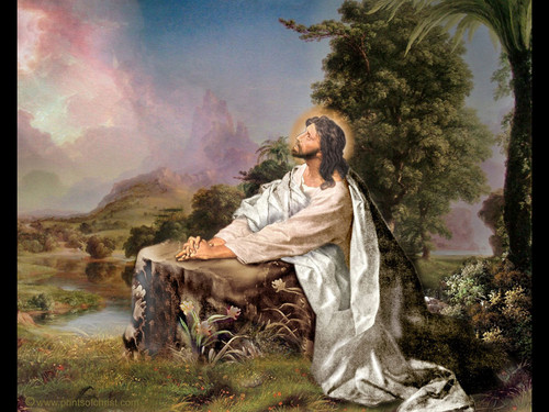 Image result for jesus in prayer pictures