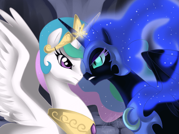 Princess Celestia vs Nightmare Moon My Little Pony