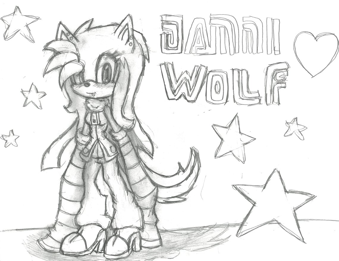 Request From Emo Bunny Danni The Wolf Sketch 3