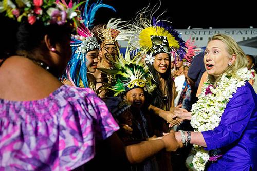 Hillary Clinton in Rarotonga - the-cook-islands Photo
