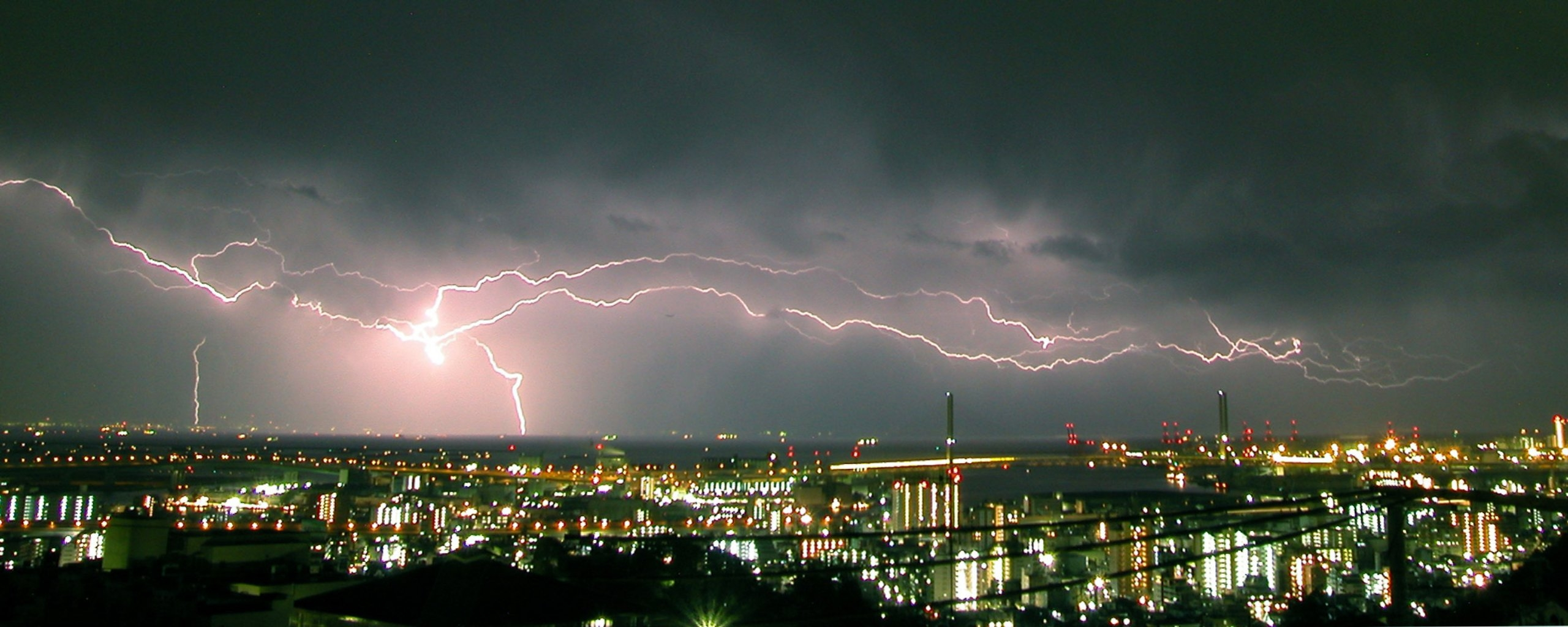 Lightening Wallpaper And Background Image 2560x1024 ID