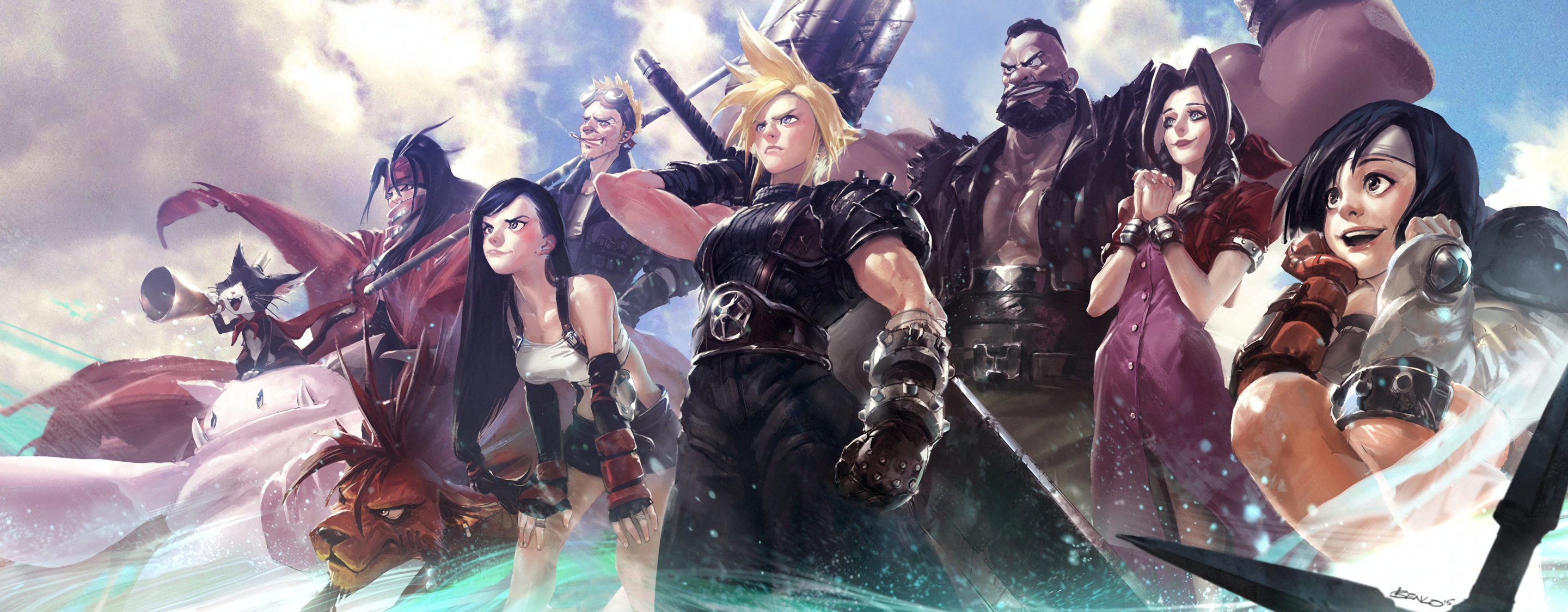 Final Fantasy VII HD Wallpaper Background Image 2880x1124 ID854138 Wallpaper Abyss