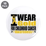 "Childhood Cancer Gold Ribbon 3.5"" Button (10 pack)"