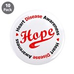 "Heart Disease Hope 3.5"" Button (10 pack)"