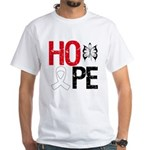 Bone Cancer Hope White T-Shirt