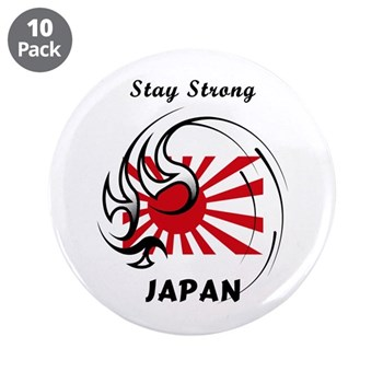 "Stay Strong Japan 3.5"" Button"