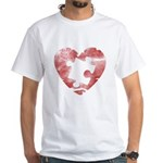 PIECE OF MY HEART White T-Shirt