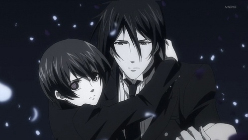 Black Butler ending Sebastian carries Ciel to his final resting place