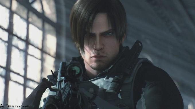 guy tries to copy leon kennedy's (resident evil) haircut