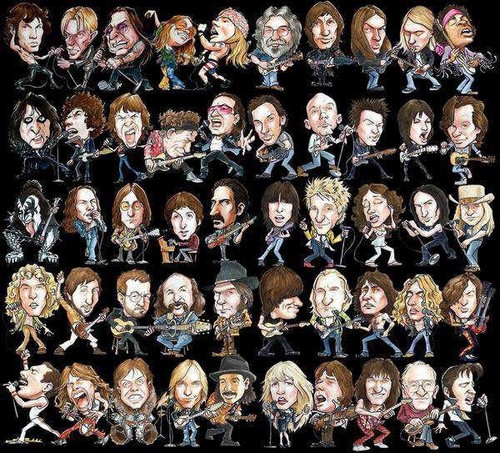 Rock Band Collage Wallpaper