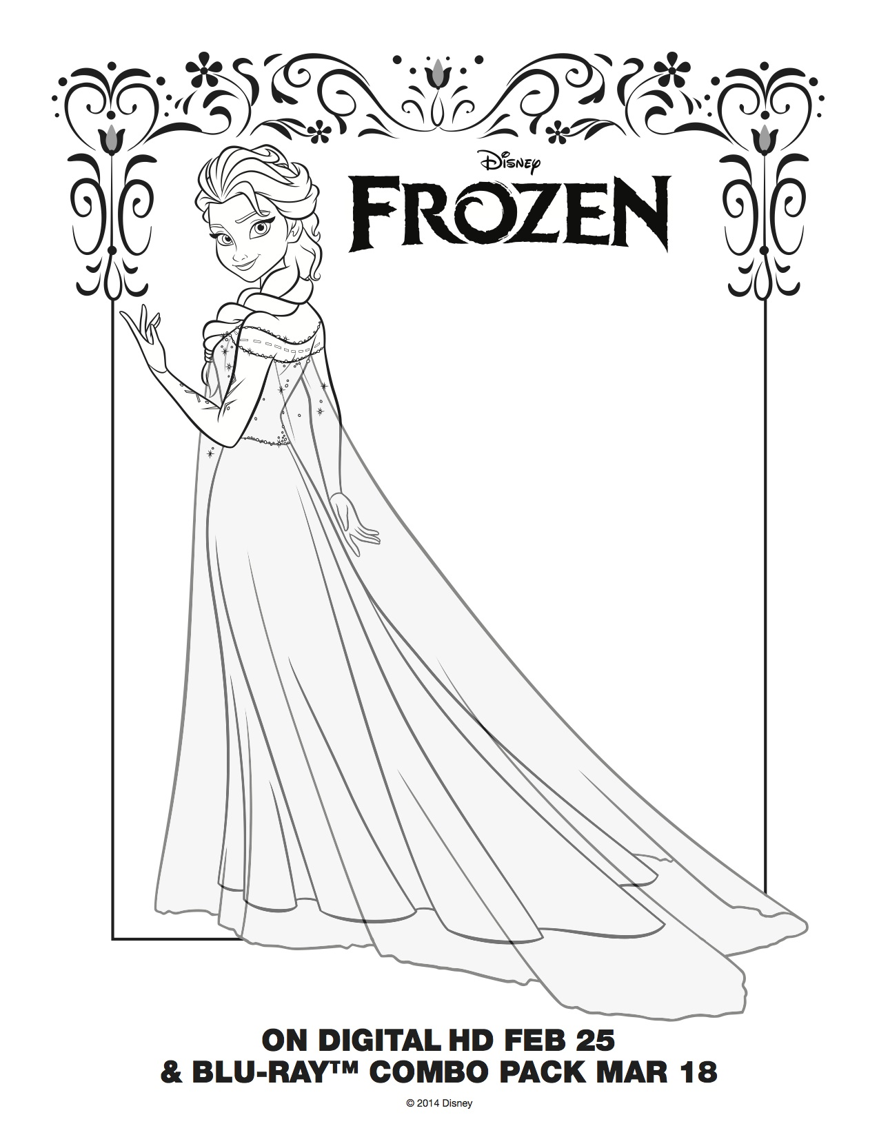 Free Printable Frozen Coloring Pages Anna And Elsa