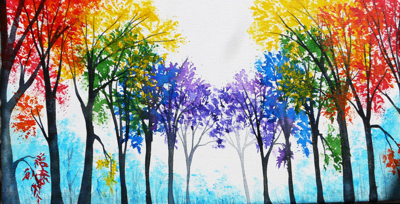 Image Result For Acrylic Painting Background Trees