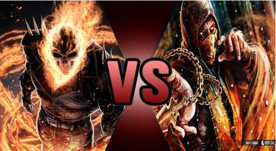 Image result for ghost rider vs scorpion