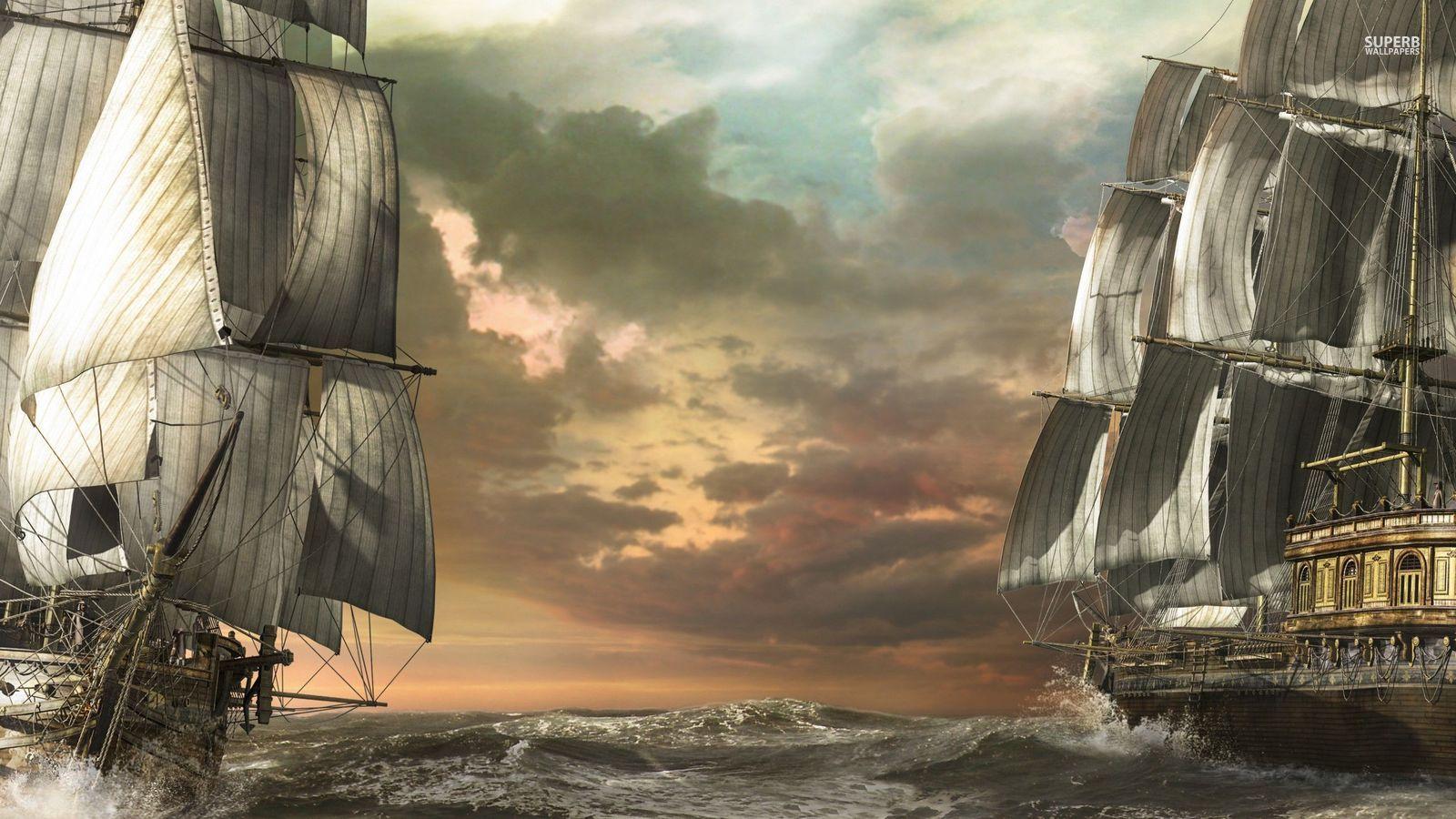 pirate sailing ships deck