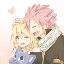 Fairy Tail Imagens A Cute Pic Of Natsu Lucy And Happy 33