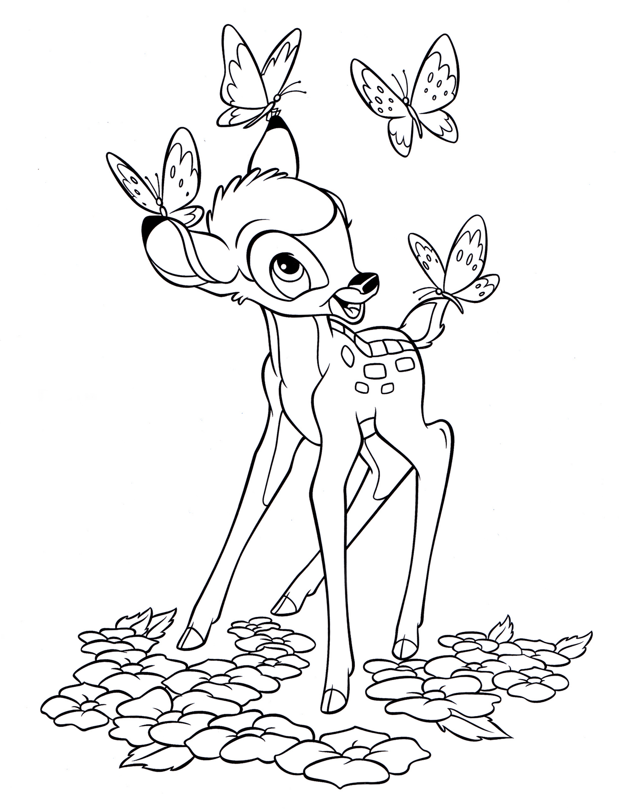Coloring Pages Disney Characters Bambi
