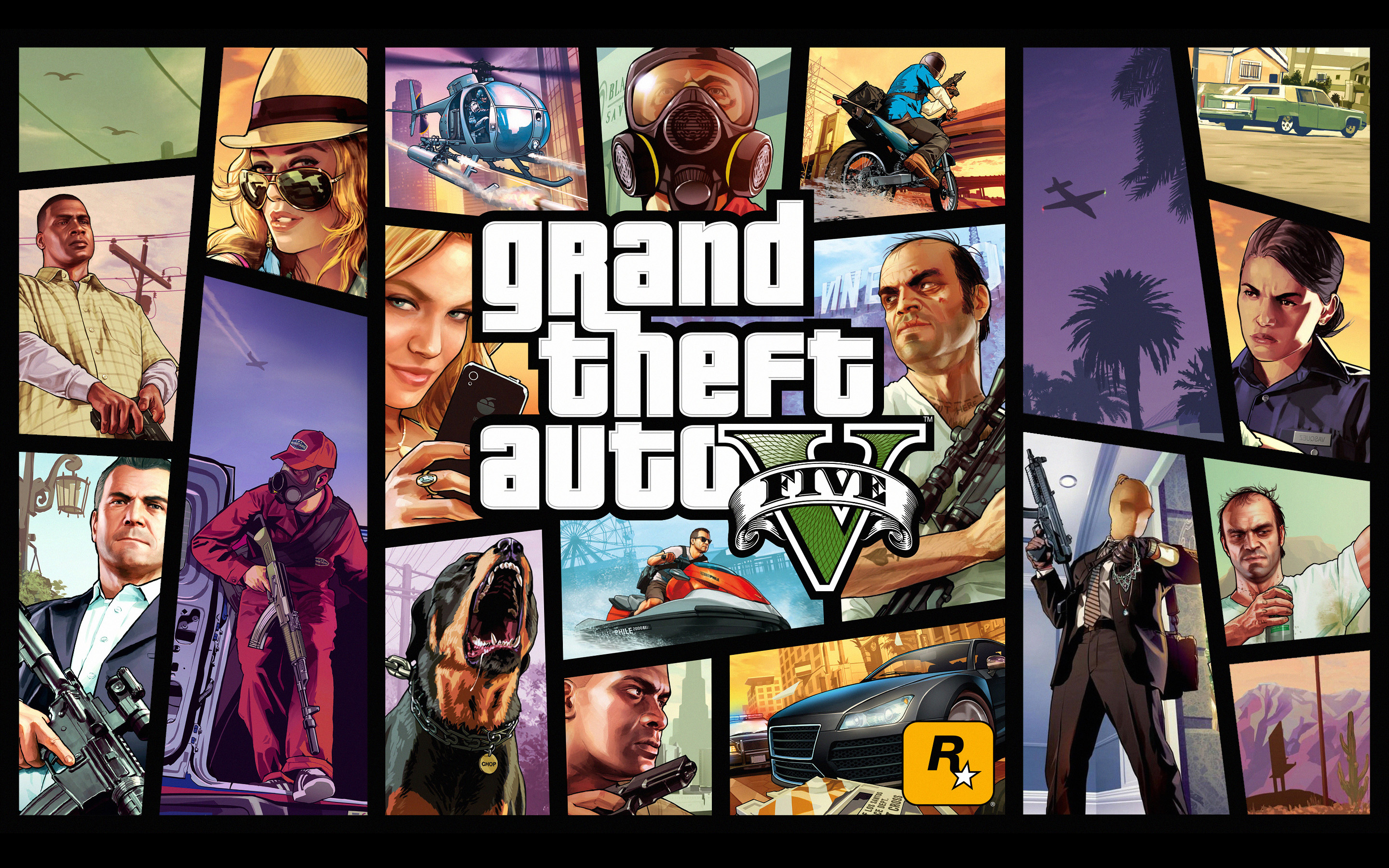 grand theft auto v full hd wallpaper and background | 2880x1800